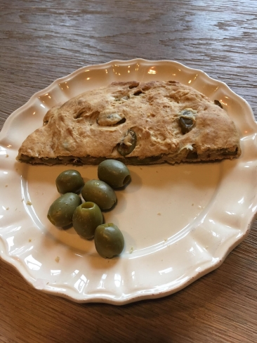 flatbread met olijven