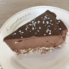 avocado-chocolade fudge met grof zout