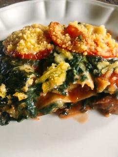 plantaardige lasagne met tofugehakt