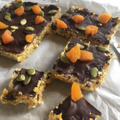 abrikoos/chocolade flapjacks